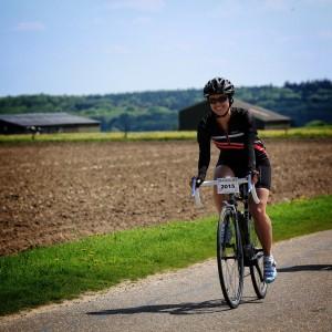 Bregje Peeters op de fiets